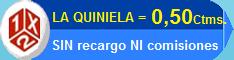 Juega tu Quiniela sin comisiones ni recargos