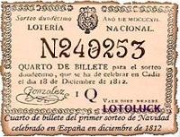 LN Quarto de Billete 18-12-1812