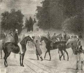 Carreras de caballos en la Casa de Campo