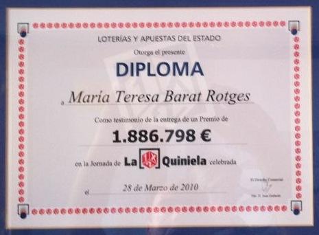 Diploma de La Quiniela