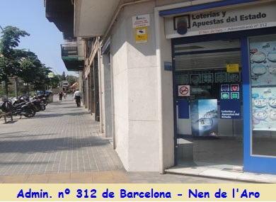 Administracion nº 312 de Barcelona Nen de l'Aro