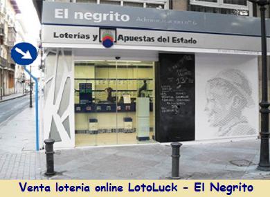 Venta de loteria online LotoLuck-El Negrito